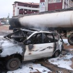 PHOTOS: Petrol tanker bursts into flames in Lagos