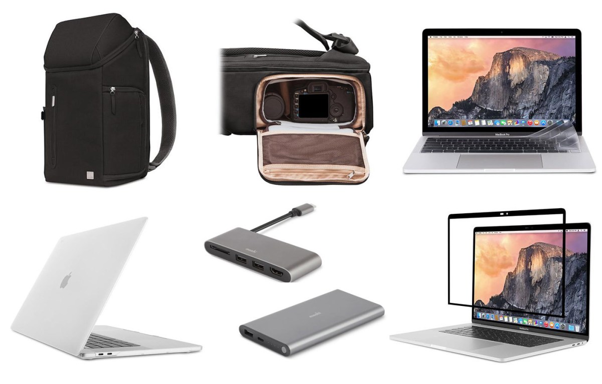 Left to Right Top: Arcus Backpack, ClearGuard Left to Right Bottom: iGlaze, USB-C Multimedia Adapter, IonSlim, iVisor (Graphic: Business Wire)