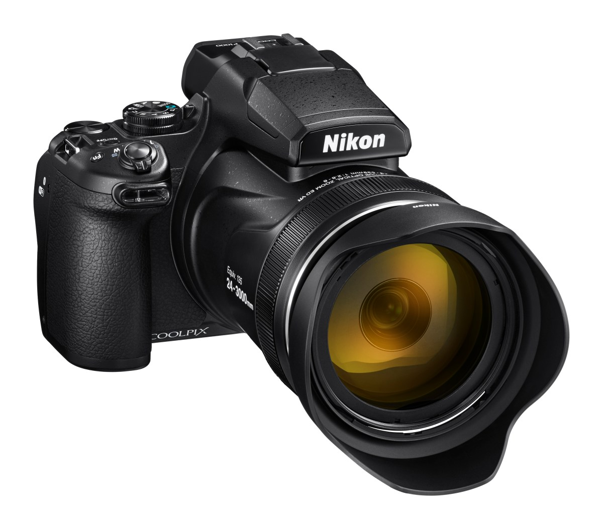 New COOLPIX P1000: NIKKOR 24-3000mm Equivalent Optical Zoom Lens Offers 125x Zoom