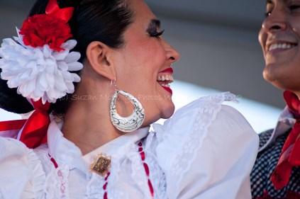 Globalfest 2012 - Mexican Pavilion - dancers, pair, close-up, Vi