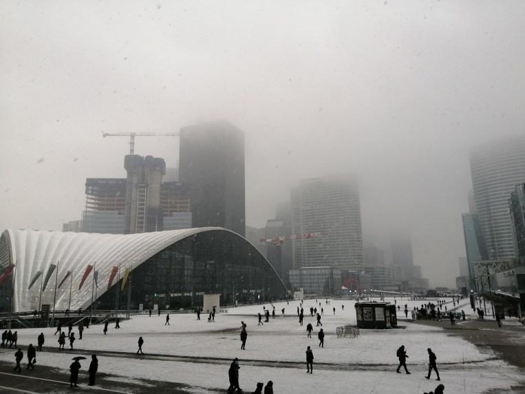 La Défense sous la neige - - Mode Pro - 26 mm - 50 ISO - 1/423 - f/1,8