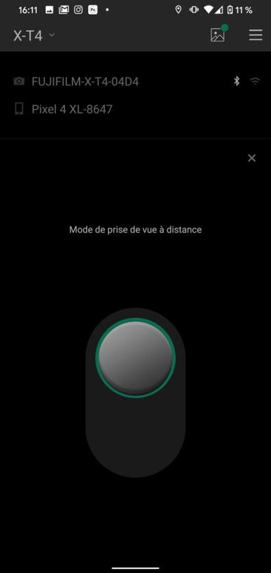 Fujifilm X T4 Application Camera Remote