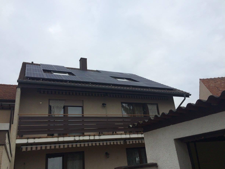 Sandhausen, PV - Anlage (8,64 kWp) mit Speichersystem LG Resu 6.5 mit Nutzbarer Speicherkapazität 5,9 kWh