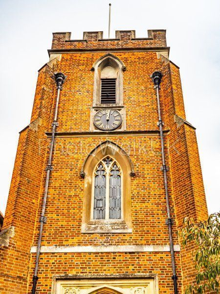 St Johns Red Brick Church and Clock Windlesham, Surrey - Photo Walk UK