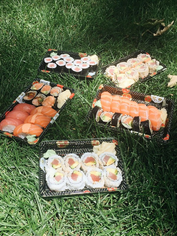 lunch break on the grass