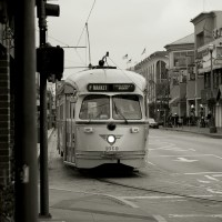 San Francisco - Fisherman's Trolley (B&W)