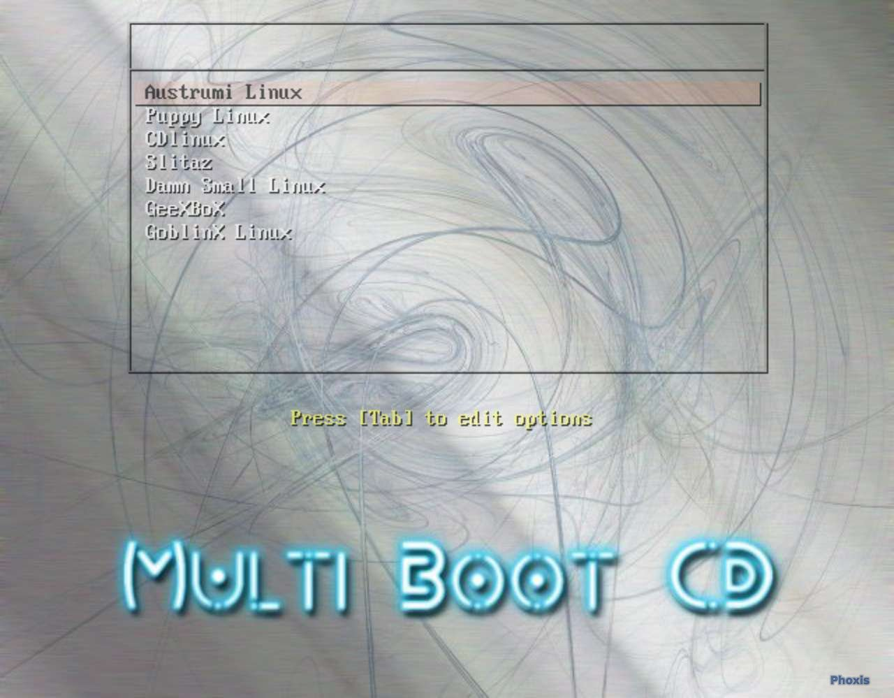 Multi Boot Live CD Splash Screen