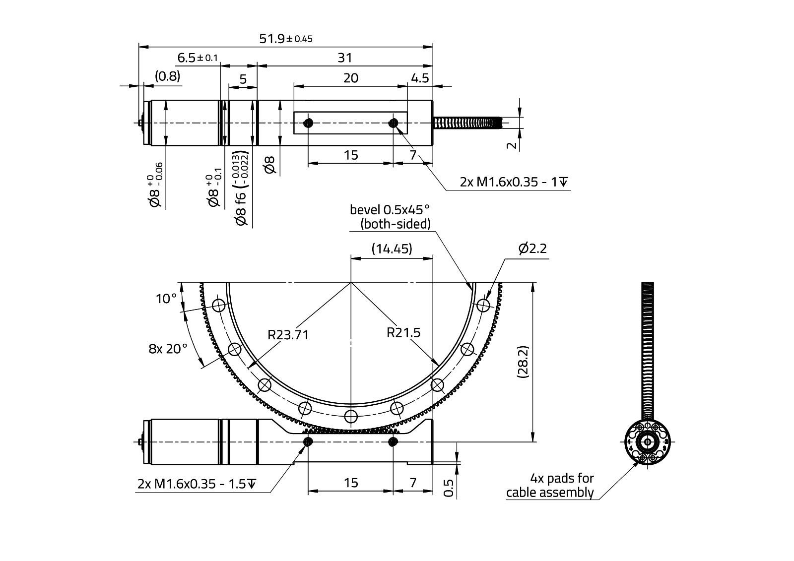 Maalondrive Wormgear 8mm Type 1