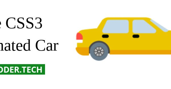 Pure CSS3 Animated Car