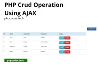 PHP crud operation using ajax