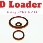 3D Loader using CSS