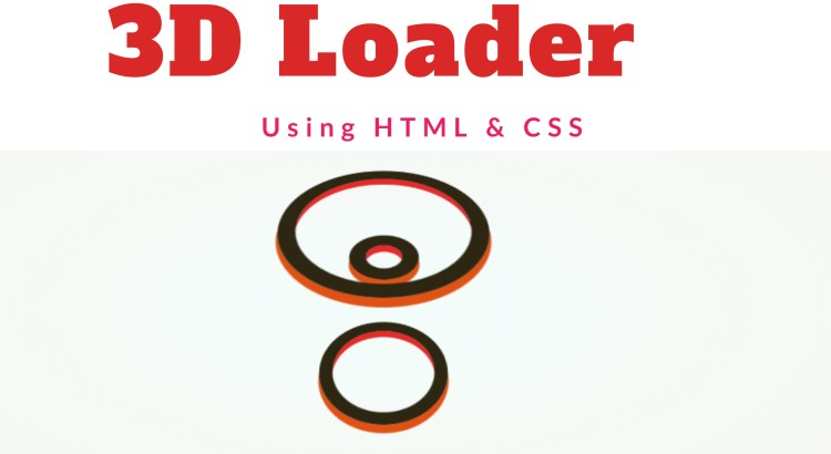 3D loader using HTML & CSS