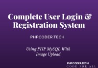 Complete User Login & Registration System using PHP MySQL With Image Upload