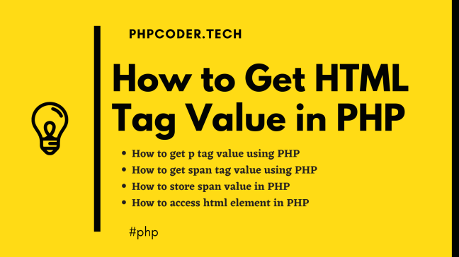 How to Get HTML Tag Value in PHP