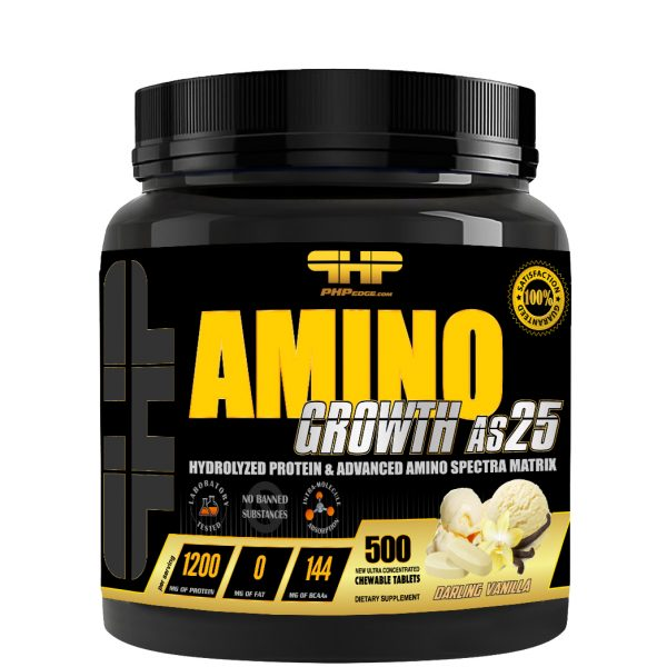 AminoGrowth-AS25-500Tabs-Vanilla
