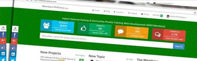 Launching Sistem Komunitas Private Training Web Development
