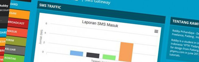 SMS Gateway Full Fitur With Metro UI Responsive Template (Gammu)