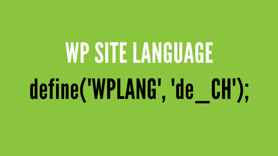 How to change Site language in WordPress