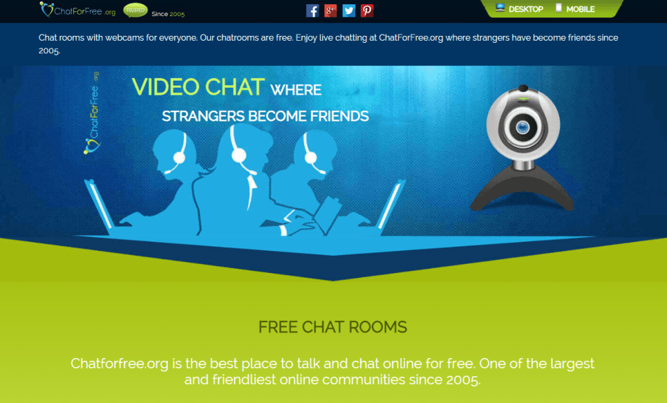 ChatForFree video chat rooms