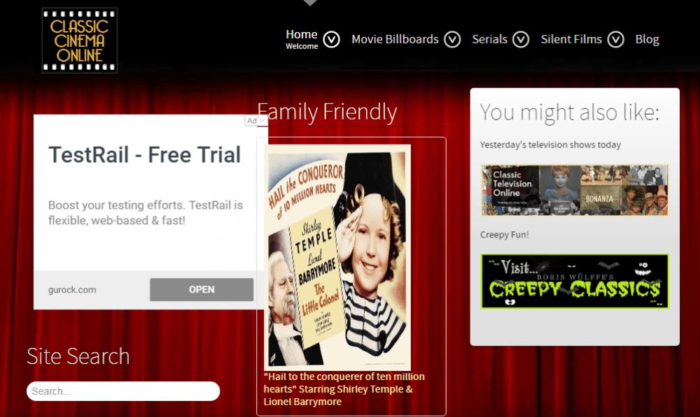 Classic Cinema Online movies download website
