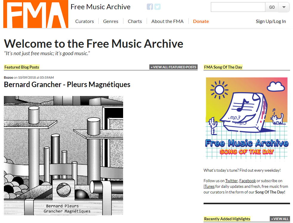 FreeMusicArchive To Download Music Albums
