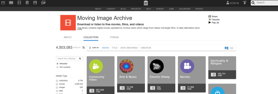 The Internet Archive with no Restrictions