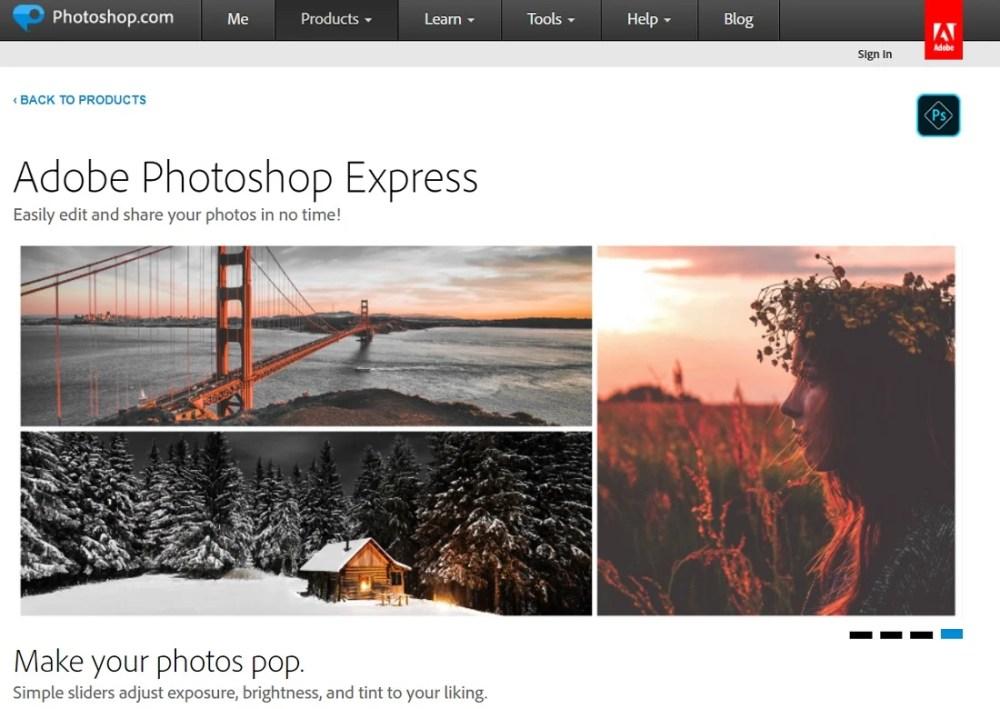 photoshop free online photo editors