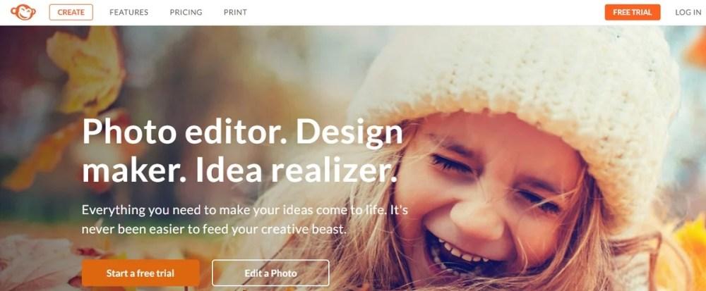 picmonkey free online photo editors