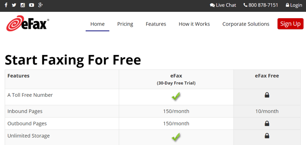 eFax free for free online fax
