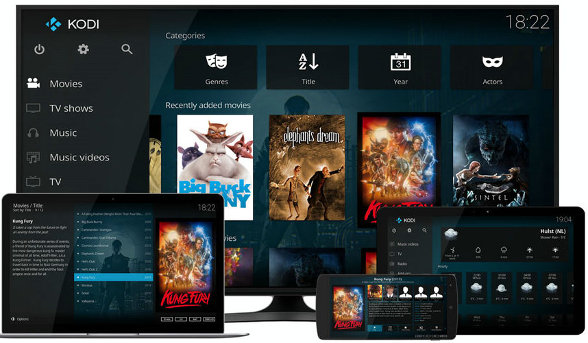 Kodi TV media Payer
