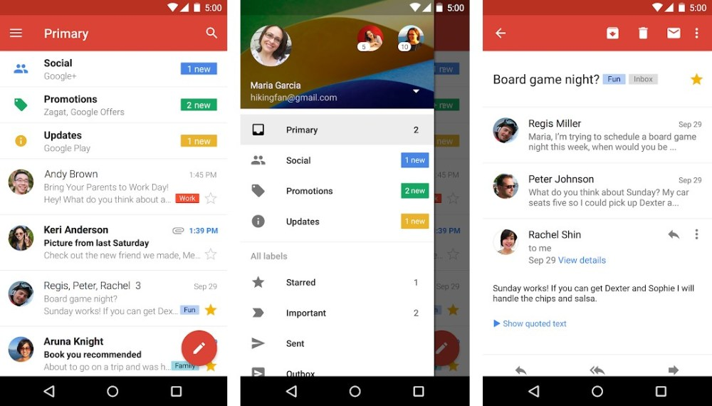 Top 15 Best Android Email Apps in 2019 - PhreeSite com