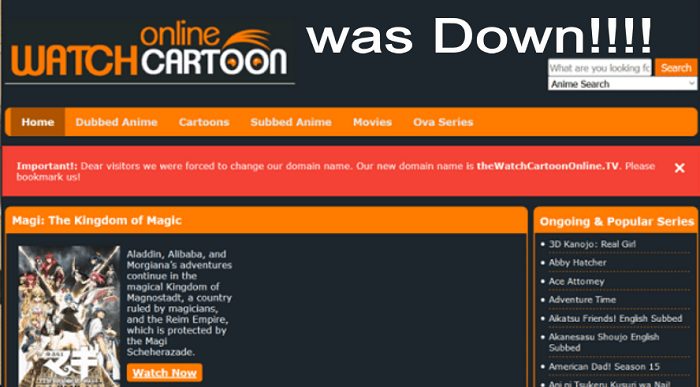 what happened to watchcartoononline