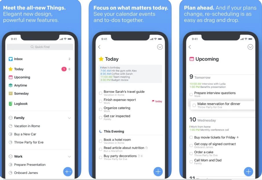 Things task management app