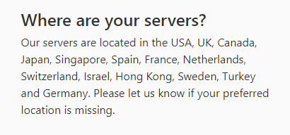 12vpn server locations