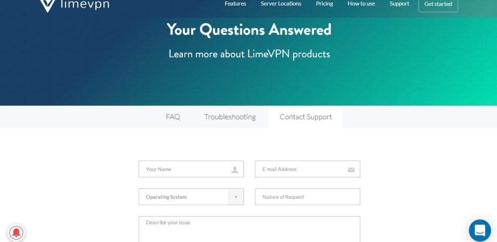 limevpn-support