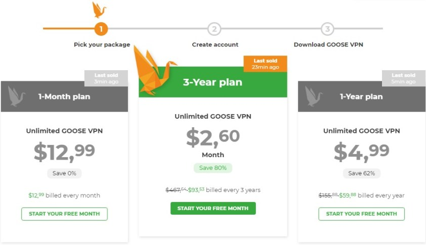 goosevpn prices