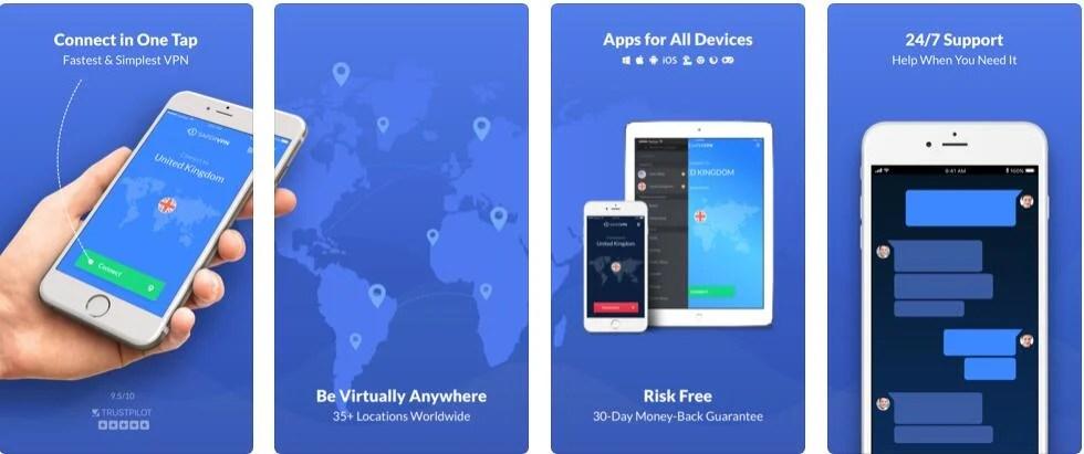 SaferVPN IOS app