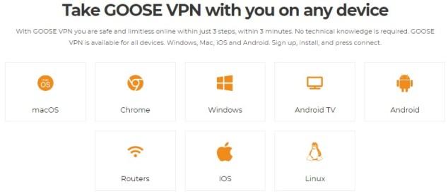 GooseVPN Compatibility