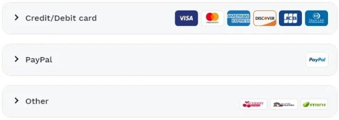 hotspot shield payment options