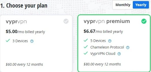 vyprvpn price plan
