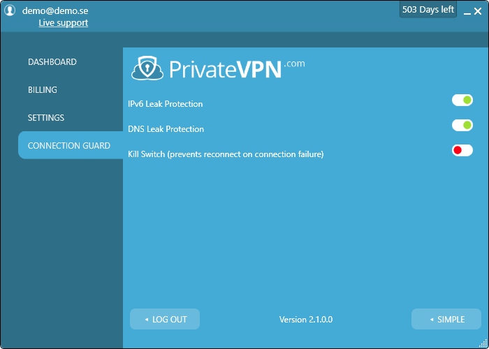 privateVPN-guard