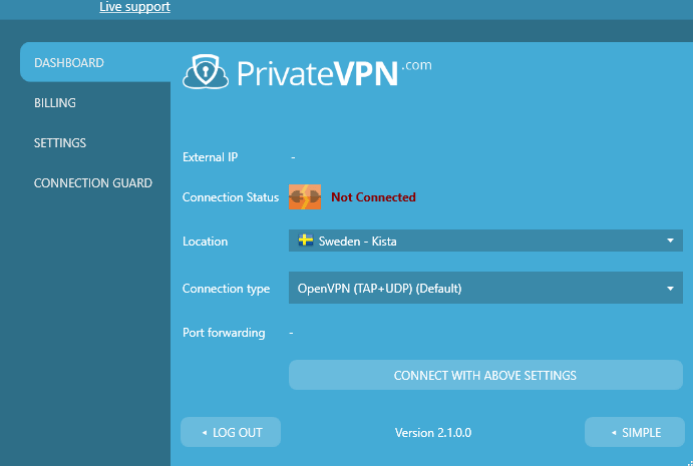 setting-on-PrivateVPN