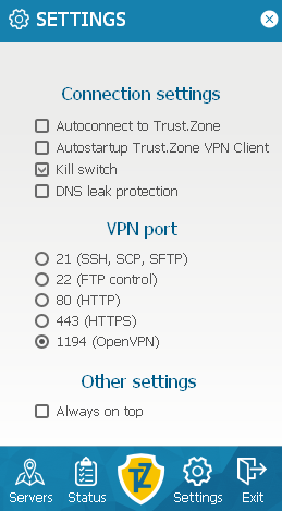trust-zone-client-settings