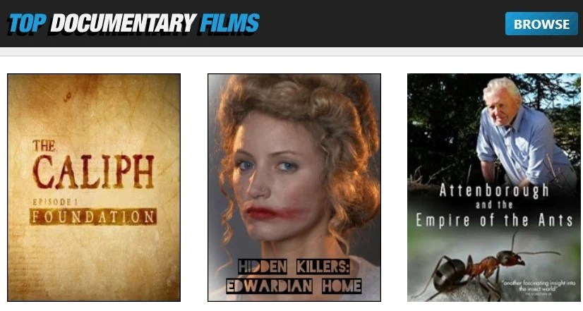Top Documentary Films site