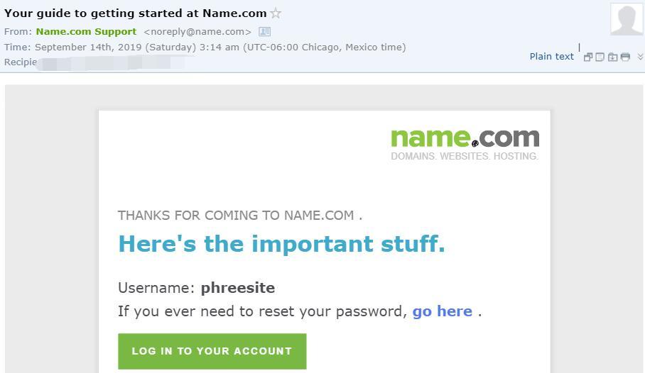 register name.com on Sep 14th