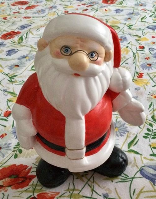père Noël à lunette