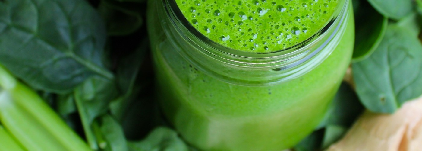 Vegan Green Ginger Spinach Smoothie