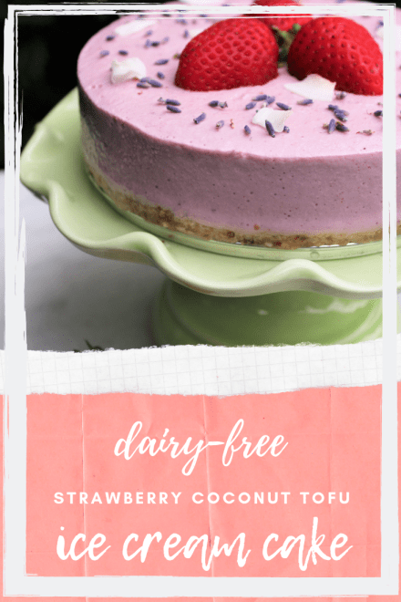 Strawberry Coconut Ice Cream Tofu Cake