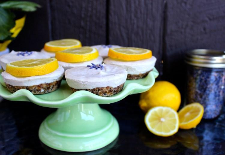 Lemon Lavender Raw Vegan Cheesecake 7