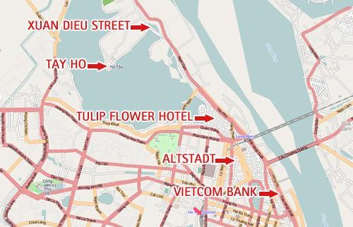 Übersichtskarte Hanoi (Tay Ho, Altstadt, ..)  - OSM.org